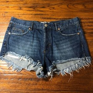 Free People Fringe Denim Shorts NWOT
